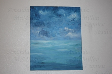 Between the waters: Original acrylic on stretched canvas, 20x16 inches; SOLD